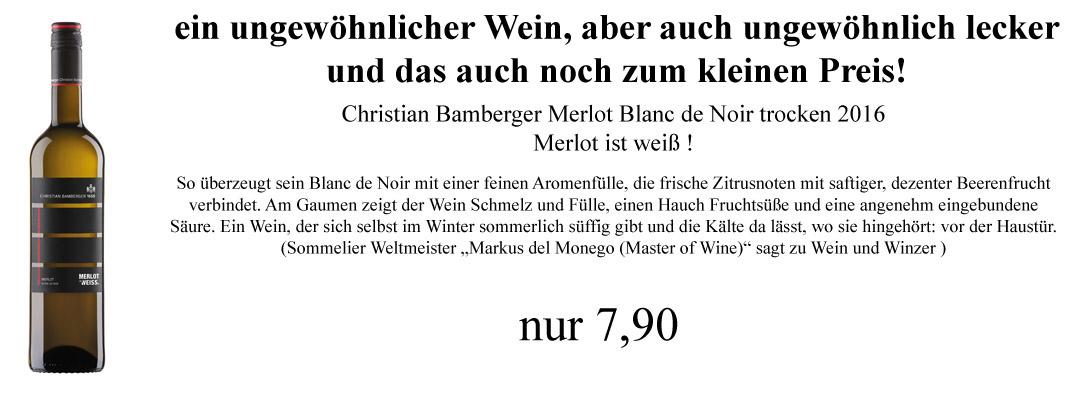 Bamberger: Merlot ist weiss